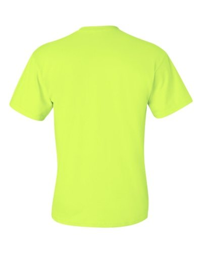 Custom Printed Gildan 2300 Ultra Cotton Pocketed T-Shirt - Safety Green - Back View | ThatShirt