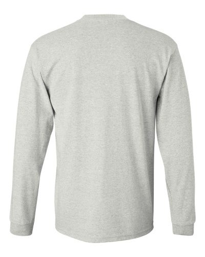 Custom Printed Gildan 2400 Ultra Cotton Long-Sleeve T-Shirt - 1 - Back View | ThatShirt