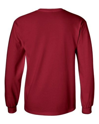 Custom Printed Gildan 2400 Ultra Cotton Long-Sleeve T-Shirt - 3 - Back View | ThatShirt