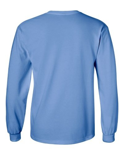 Custom Printed Gildan 2400 Ultra Cotton Long-Sleeve T-Shirt - 4 - Back View | ThatShirt