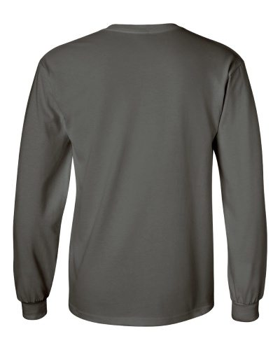 Custom Printed Gildan 2400 Ultra Cotton Long-Sleeve T-Shirt - 0 - Back View | ThatShirt