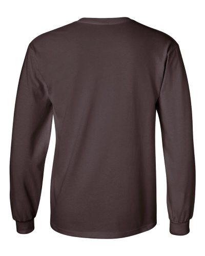 Custom Printed Gildan 2400 Ultra Cotton Long-Sleeve T-Shirt - 5 - Back View | ThatShirt