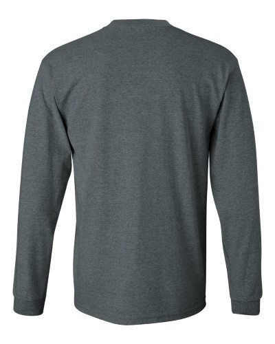 Custom Printed Gildan 2400 Ultra Cotton Long-Sleeve T-Shirt - 6 - Back View | ThatShirt