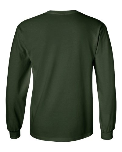 Custom Printed Gildan 2400 Ultra Cotton Long-Sleeve T-Shirt - 7 - Back View | ThatShirt