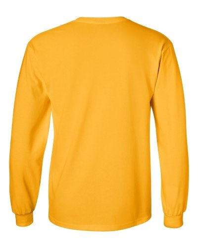 Custom Printed Gildan 2400 Ultra Cotton Long-Sleeve T-Shirt - 8 - Back View | ThatShirt