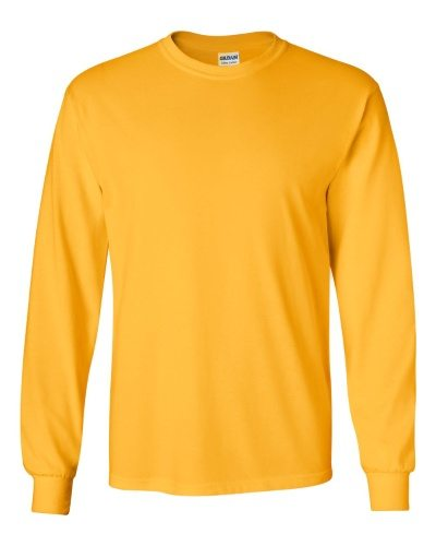 Custom Printed Gildan 2400 Ultra Cotton Long-Sleeve T-Shirt - 8 - Front View | ThatShirt