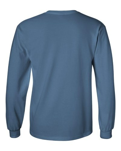 Custom Printed Gildan 2400 Ultra Cotton Long-Sleeve T-Shirt - 9 - Back View | ThatShirt