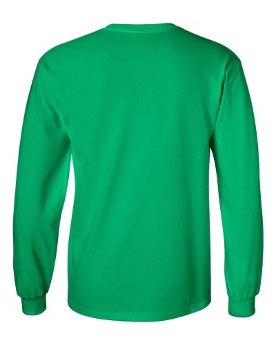 Custom Printed Gildan 2400 Ultra Cotton Long-Sleeve T-Shirt - 10 - Back View | ThatShirt