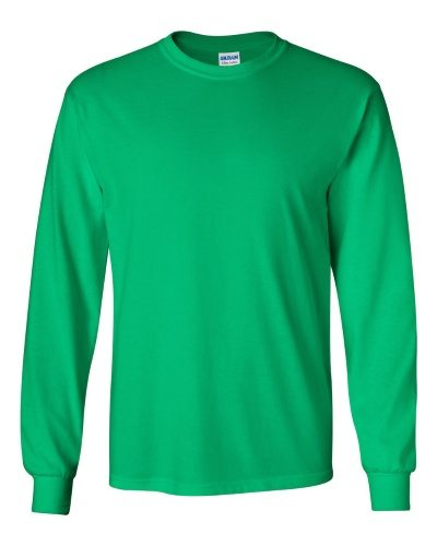 Custom Printed Gildan 2400 Ultra Cotton Long-Sleeve T-Shirt - 10 - Front View | ThatShirt