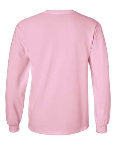 Custom Printed Gildan 2400 Ultra Cotton Long-Sleeve T-Shirt - 12 - Back View | ThatShirt