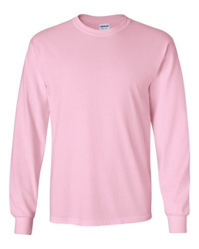 Custom Printed Gildan 2400 Ultra Cotton Long-Sleeve T-Shirt - 12 - Front View | ThatShirt