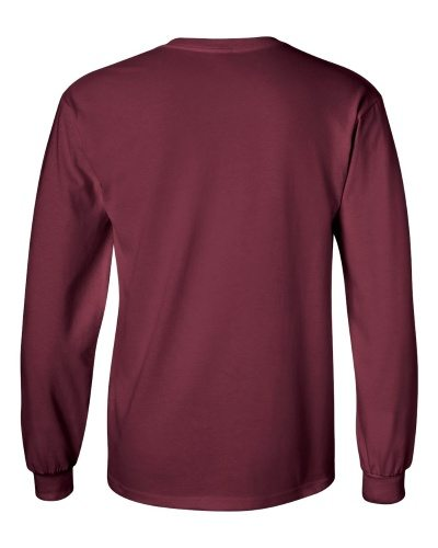Custom Printed Gildan 2400 Ultra Cotton Long-Sleeve T-Shirt - 13 - Back View | ThatShirt