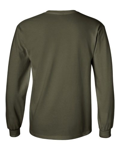 Custom Printed Gildan 2400 Ultra Cotton Long-Sleeve T-Shirt - 14 - Back View | ThatShirt