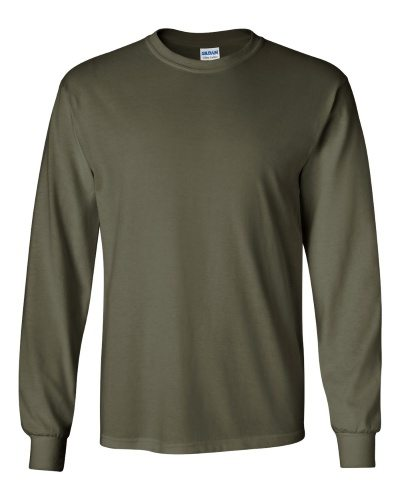Custom Printed Gildan 2400 Ultra Cotton Long-Sleeve T-Shirt - 14 - Front View | ThatShirt