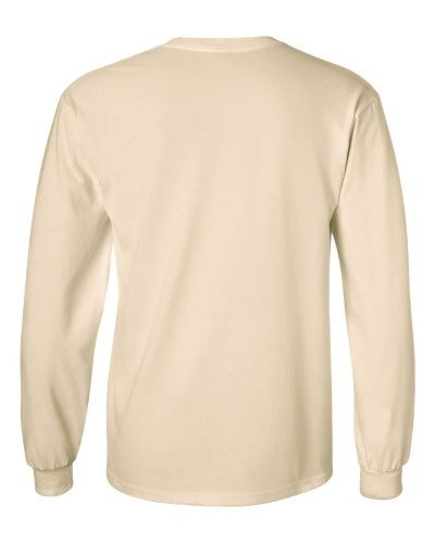 Custom Printed Gildan 2400 Ultra Cotton Long-Sleeve T-Shirt - 15 - Back View | ThatShirt