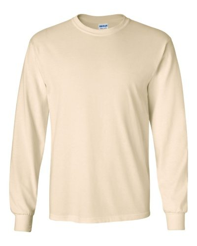 Custom Printed Gildan 2400 Ultra Cotton Long-Sleeve T-Shirt - 15 - Front View | ThatShirt