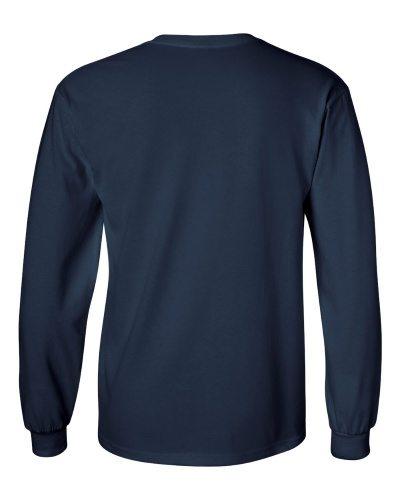 Custom Printed Gildan 2400 Ultra Cotton Long-Sleeve T-Shirt - 16 - Back View | ThatShirt