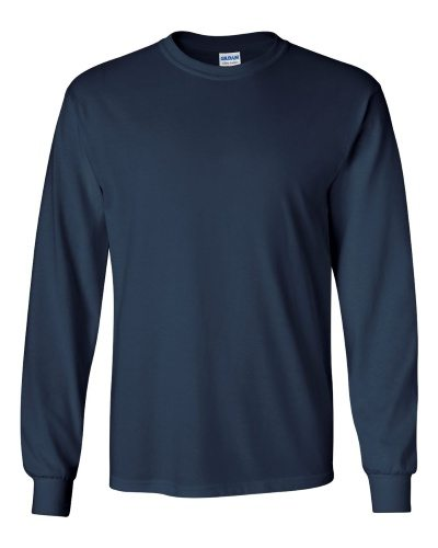 Custom Printed Gildan 2400 Ultra Cotton Long-Sleeve T-Shirt - 16 - Front View | ThatShirt