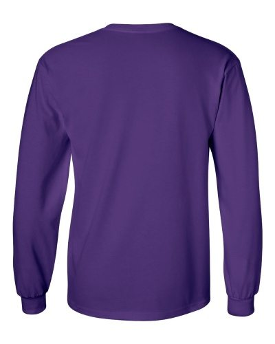Custom Printed Gildan 2400 Ultra Cotton Long-Sleeve T-Shirt - 18 - Back View | ThatShirt