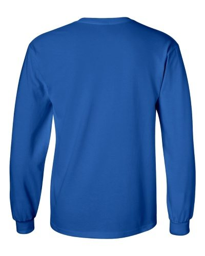 Custom Printed Gildan 2400 Ultra Cotton Long-Sleeve T-Shirt - 20 - Back View | ThatShirt