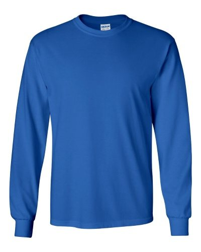 Custom Printed Gildan 2400 Ultra Cotton Long-Sleeve T-Shirt - 20 - Front View | ThatShirt