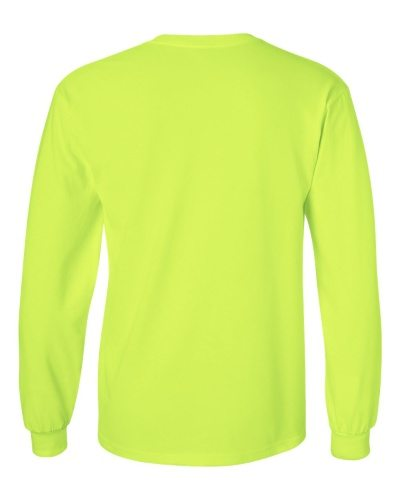 Custom Printed Gildan 2400 Ultra Cotton Long-Sleeve T-Shirt - 21 - Back View | ThatShirt