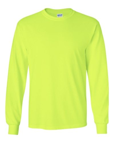 Custom Printed Gildan 2400 Ultra Cotton Long-Sleeve T-Shirt - 21 - Front View | ThatShirt