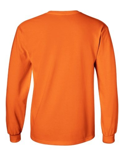 Custom Printed Gildan 2400 Ultra Cotton Long-Sleeve T-Shirt - 22 - Back View | ThatShirt