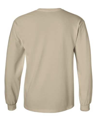 Custom Printed Gildan 2400 Ultra Cotton Long-Sleeve T-Shirt - 23 - Back View | ThatShirt
