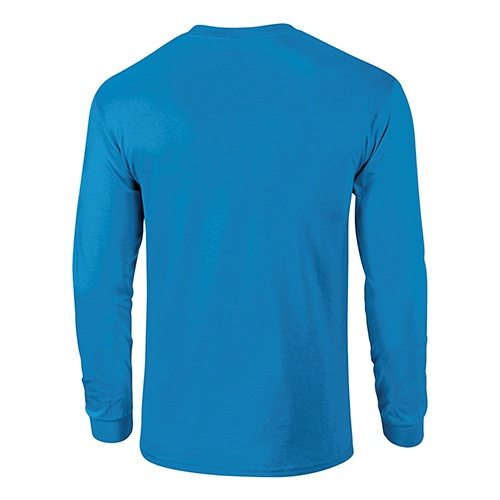 Custom Printed Gildan 2400 Ultra Cotton Long-Sleeve T-Shirt - 24 - Back View | ThatShirt