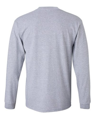 Custom Printed Gildan 2400 Ultra Cotton Long-Sleeve T-Shirt - 25 - Back View | ThatShirt