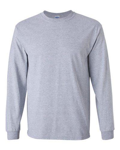 Custom Printed Gildan 2400 Ultra Cotton Long-Sleeve T-Shirt - Front View | ThatShirt