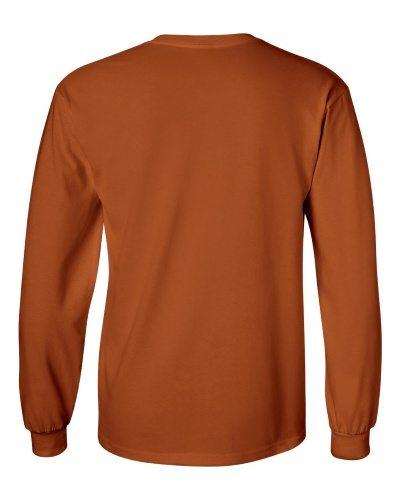 Custom Printed Gildan 2400 Ultra Cotton Long-Sleeve T-Shirt - 26 - Back View | ThatShirt