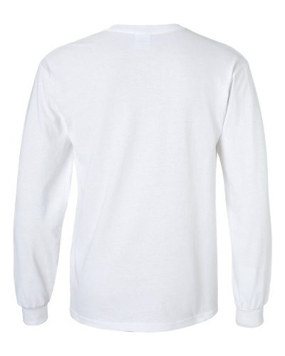 Custom Printed Gildan 2400 Ultra Cotton Long-Sleeve T-Shirt - 27 - Back View | ThatShirt