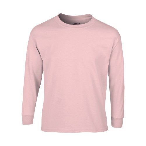 Custom Printed Gildan 240B Youth Ultra Cotton Long-Sleeve T-Shirt - Front View | ThatShirt