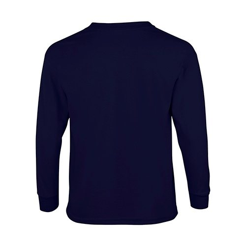 Custom Printed Gildan 240B Youth Ultra Cotton Long-Sleeve T-Shirt - 4 - Back View | ThatShirt