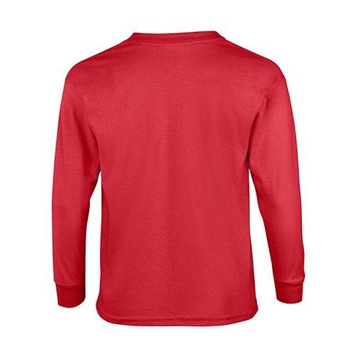 Custom Printed Gildan 240B Youth Ultra Cotton Long-Sleeve T-Shirt - 5 - Back View | ThatShirt