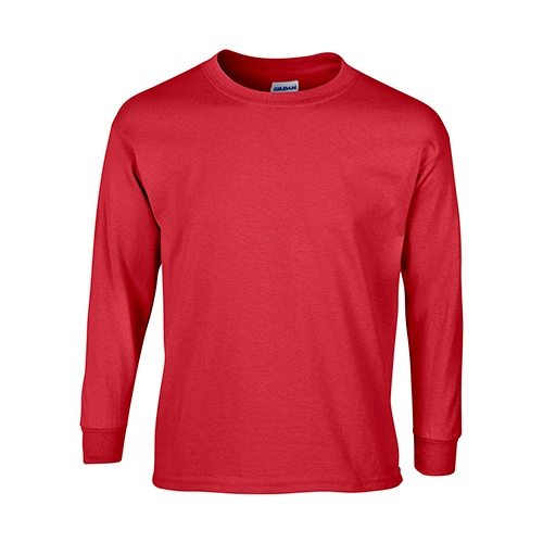 Custom Printed Gildan 240B Youth Ultra Cotton Long-Sleeve T-Shirt - Front View | ThatShirt