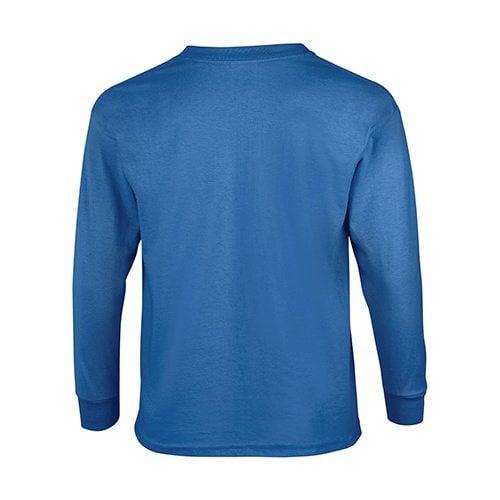 Custom Printed Gildan 240B Youth Ultra Cotton Long-Sleeve T-Shirt - 6 - Back View | ThatShirt