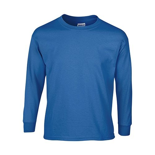 Custom Printed Gildan 240B Youth Ultra Cotton Long-Sleeve T-Shirt - 6 - Front View | ThatShirt