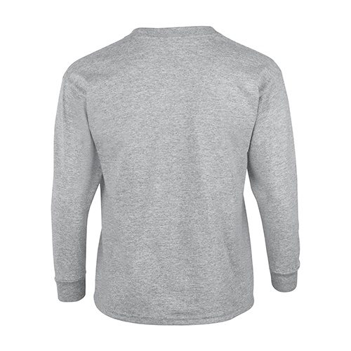Custom Printed Gildan 240B Youth Ultra Cotton Long-Sleeve T-Shirt - 7 - Back View | ThatShirt