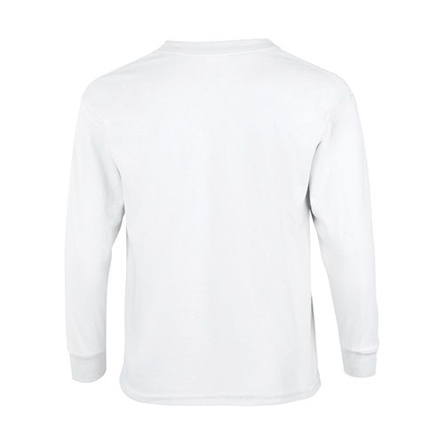 Custom Printed Gildan 240B Youth Ultra Cotton Long-Sleeve T-Shirt - 0 - Back View | ThatShirt
