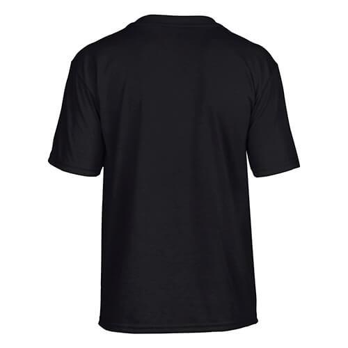 Custom Printed Gildan 42000B Youth Performance T-shirt - Black - Back View | ThatShirt