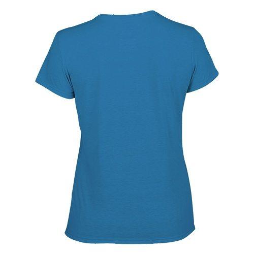 Custom Printed Gildan 42000L Ladies' Performance T-shirt - 15 - Back View | ThatShirt