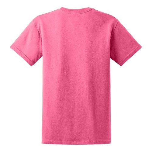 Custom Printed Gildan 5000 Heavy Cotton Unisex T-shirt - 7 - Back View | ThatShirt