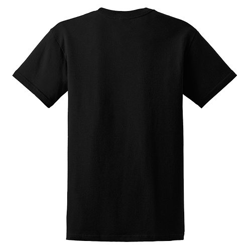 Custom Printed Gildan 5000 Heavy Cotton Unisex T-shirt - 9 - Back View | ThatShirt