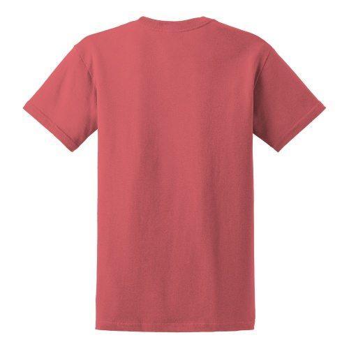 Custom Printed Gildan 5000 Heavy Cotton Unisex T-shirt - 16 - Back View   ThatShirt