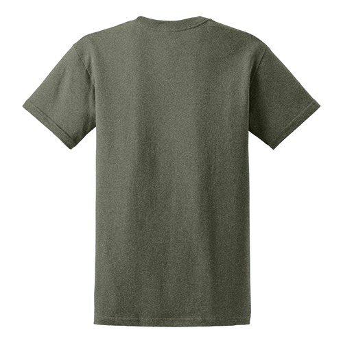Custom Printed Gildan 5000 Heavy Cotton Unisex T-shirt - 25 - Back View | ThatShirt