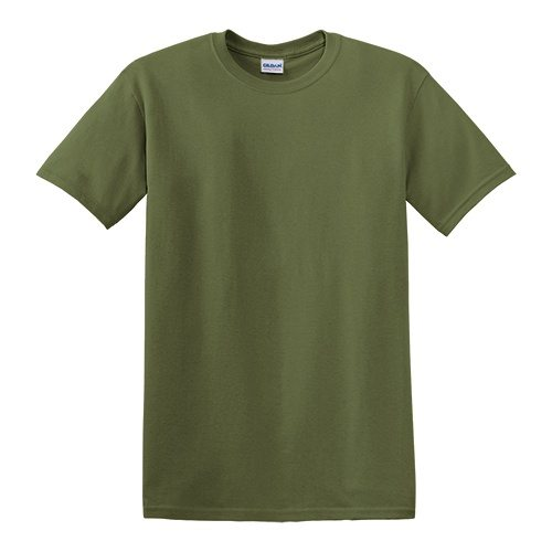 Custom Printed Gildan 5000 Heavy Cotton Unisex T-shirt - Front View | ThatShirt