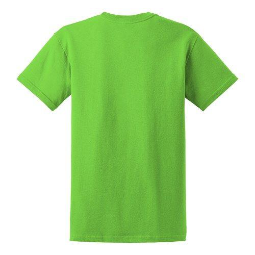 Custom Printed Gildan 5000 Heavy Cotton Unisex T-shirt - 44 - Back View   ThatShirt